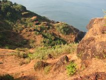 Взгляд моря от высоты горы Стоковое Изображение