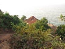 Взгляд моря от высоты горы Стоковая Фотография RF