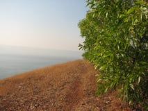 Взгляд моря от высоты горы Стоковое Изображение RF