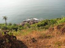 Взгляд моря от высоты горы Стоковые Изображения RF
