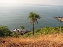 Взгляд моря от высоты горы Стоковые Изображения