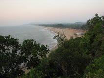 Взгляд моря от высоты горы Стоковое Фото