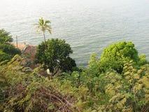 Взгляд моря от высоты горы Стоковое фото RF