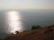 Взгляд моря от высоты горы Стоковые Фотографии RF
