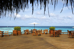 взгляд моря ресторана Стоковые Фото