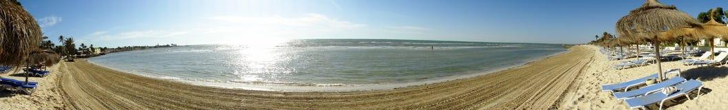 взгляд моря djerba панорамный Стоковые Изображения