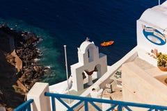 взгляд моря santorini Стоковые Изображения