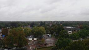 Взгляд над городом Nunspeet Стоковая Фотография RF