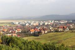 Взгляд над городом sacele стоковое изображение rf
