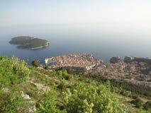 Взгляд над Дубровником, Хорватией стоковая фотография rf