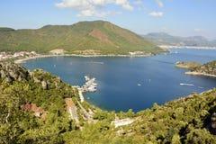 Взгляд над заливом Icmeler около Marmaris, Турции стоковое изображение rf