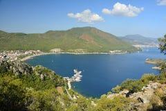 Взгляд над заливом Icmeler около Marmaris, Турции стоковое фото