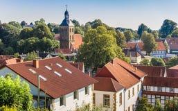 Взгляд над историческим старым городком Tecklenburg стоковые изображения