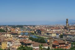 Взгляд над красивым старым городком Флоренса стоковое фото