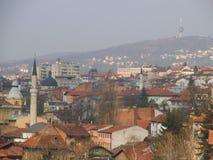 Взгляд над крышами в Сараеве стоковые изображения rf