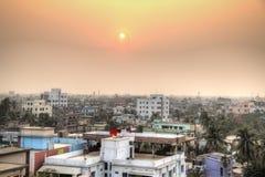 Взгляд над Кхулной в Бангладеше стоковое изображение
