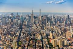 Взгляд над Манхаттаном стоковое изображение rf