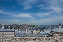 Взгляд над Стамбулом от мечети Fatih стоковые фотографии rf