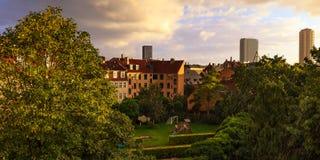 Взгляд над Frederiksberg в Дании Стоковые Фотографии RF
