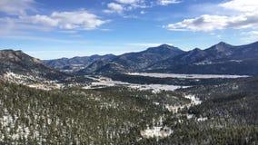 Взгляд национального парка скалистой горы стоковое фото