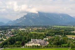 Взгляд на Австрии Альпах и Зальцбурге Стоковое Фото
