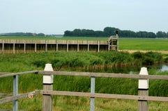 Взгляд на бывшей гавани Schokland стоковые фото