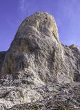Взгляд на верхнем Pico Urriellu, Picos de Европе, Астурии, Испании стоковое фото rf