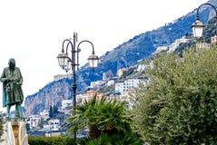 Взгляд на гавани Амальфи, Италии Стоковые Фото