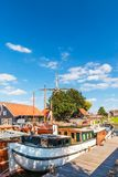 Взгляд на гавани голландского города Harderwijk Стоковые Фотографии RF