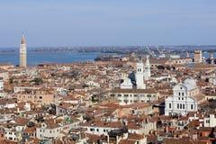 Взгляд на городе Венеции Стоковые Изображения RF