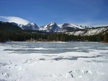 Взгляд на замороженном озере стоковые фотографии rf