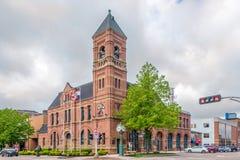 Взгляд на здание муниципалитете Charlottetown в Канаде стоковые изображения