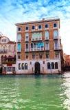 Взгляд на исторических зданиях вдоль грандиозного канала Стоковые Фото