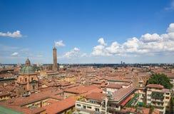 Взгляд на историческом центре болонья, Италии Стоковая Фотография RF