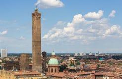 Взгляд на историческом центре болонья, Италии Стоковые Изображения