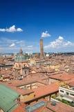 Взгляд на историческом центре болонья, Италии Стоковое фото RF