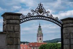 Взгляд на историческом центре Cesky Krumlov европа Стоковые Изображения