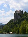 Взгляд на кровоточенном замоке, Словении Стоковые Фотографии RF