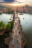 Взгляд на мосте Карла стоковое изображение