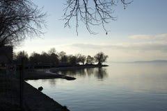 Взгляд на озере Balaton стоковое фото rf