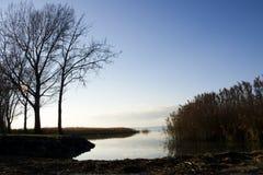 Взгляд на озере Balaton стоковое фото