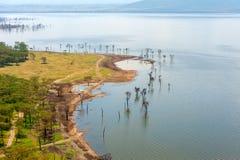 Взгляд на озере Nakuru вышесказанного Кения стоковая фотография