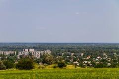 Взгляд на промышленном районе в городе Kremenchug Стоковые Фото