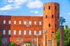 Взгляд на стробе Palatine в Турине стоковое фото rf