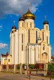 Взгляд на церков всех Святых в Lida, Беларуси Стоковые Фото