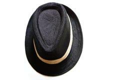 взгляд на черной шляпе стоковое изображение rf