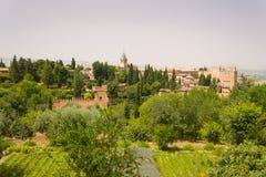 Взгляд на Alhambra Стоковая Фотография