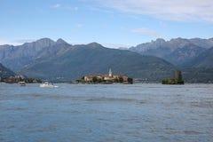 Взгляд на Isola Superiore, озере Maggiore Lago, Италии Стоковое Фото
