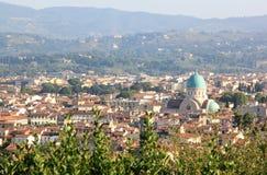 Взгляд на Tempio Maggiore Israelitico, Флоренс Стоковая Фотография RF