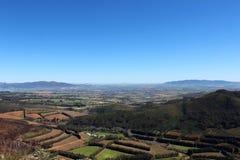 Взгляд неба винной страны накидки Стоковое Изображение RF